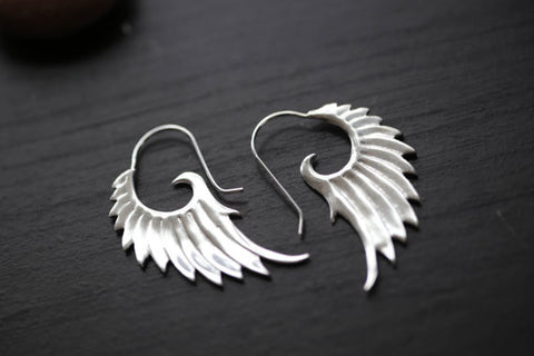 Silver Finish  Brass Earrings