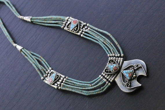 Reversible Nepalese Necklace - AristaBeads Jewelry - 2