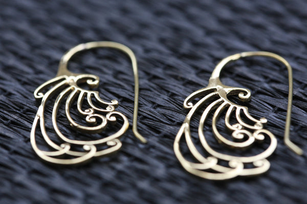 Tribal Brass Spirals - AristaBeads Jewelry - 3