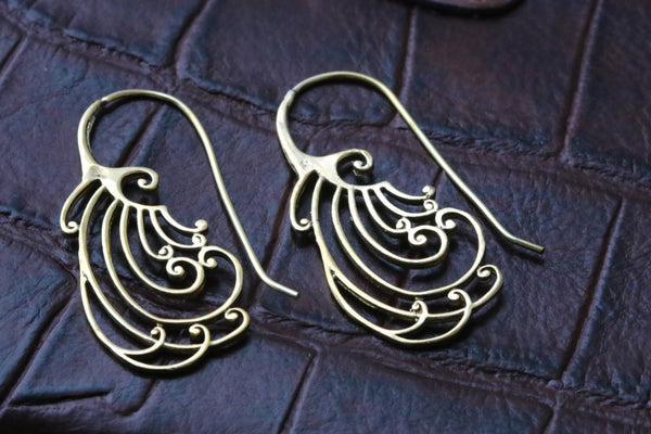 Tribal Brass Spirals - AristaBeads Jewelry - 1
