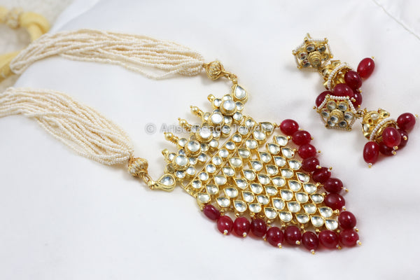 Ruby Jadtar Kundan Tanmani Necklace