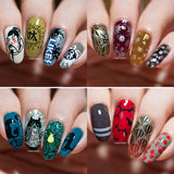 [ INJICARD® ]The NEW Collection  INJICARD #001-#009 nail stamping paltes
