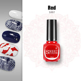 SweetColor® Stamping Nail Polish Lacquer - 14 colors