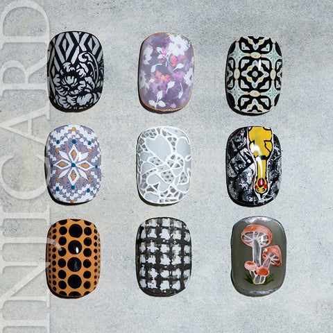 [ INJICARD® ]The NEW Collection  INJICARD #010-#018 nail stamping paltes