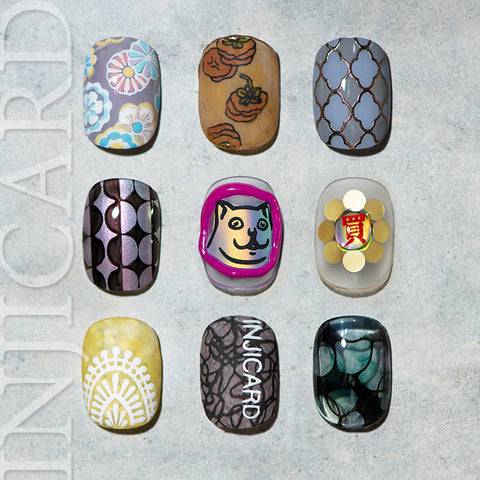 [ INJICARD® ]The NEW Collection  INJICARD #019-#027 nail stamping paltes