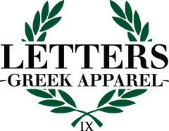 Letters Greek Apparel