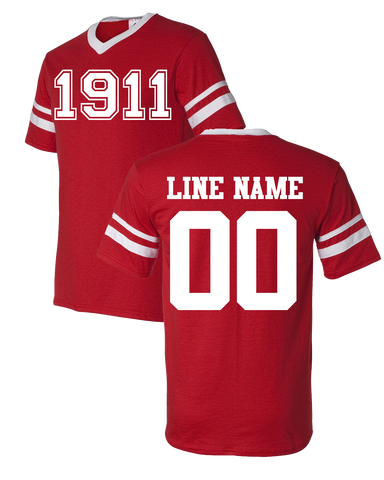 Kappa Alpha Psi Custom Crossing Jersey - Letters Greek Apparel-Black Greek Paraphernalia-Divine Nine Apparel