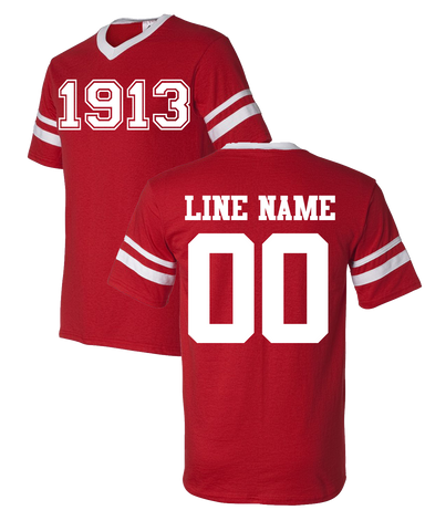 Custom Crossing 1913 Jersey - Letters Greek Apparel-Black Greek Paraphernalia-Divine Nine Apparel