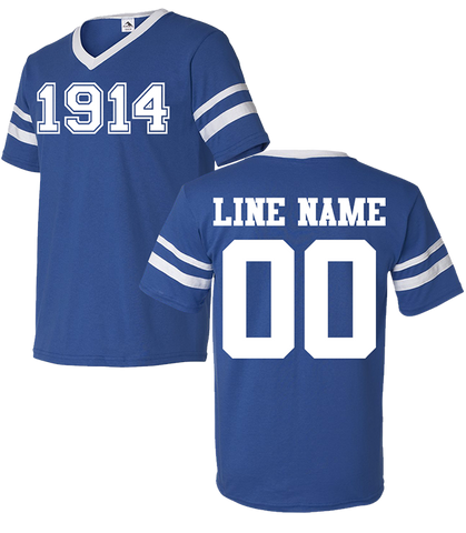 Phi Beta Sigma Custom Crossing Jersey - Letters Greek Apparel - Black Greek Paraphernalia - Divine Nine Greek Apparel - Atlanta Greek Store