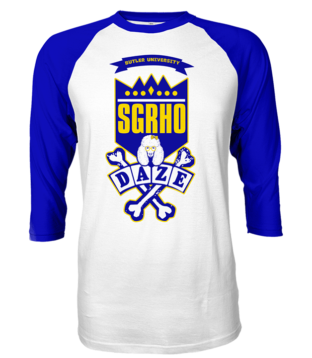 Sigma Gamma Rho School Daze Raglan - Letters Greek Apparel-Black Greek Paraphernalia-Divine Nine Apparel