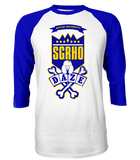 Sigma Gamma Rho School Daze Raglan - Letters Greek Apparel - Black Greek Paraphernalia - Divine Nine Greek Apparel