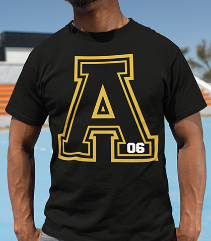 Alpha Phi Alpha Varsity 06 T-Shirt - Letters Greek Apparel - Black Greek Paraphernalia - Divine Nine Greek Apparel - Atlanta Greek Store