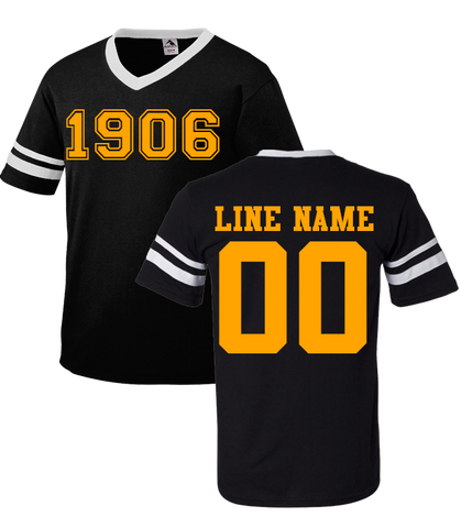 Alpha Phi Alpha Custom Crossing Jersey - Letters Greek Apparel - Black Greek Paraphernalia - Divine Nine Greek Apparel