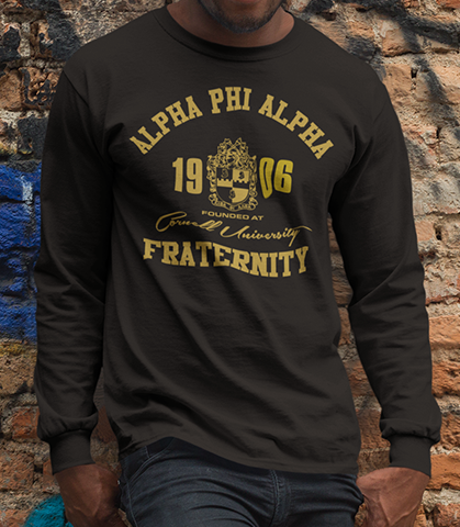 Alpha Phi Alpha Roots Long Sleeve T-Shirt - Letters Greek Apparel - Black Greek Paraphernalia - Divine Nine Greek Apparel - Atlanta Greek Store