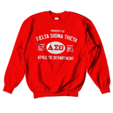 Delta Sigma Theta Athletic Crewneck Sweatshirt - Letters Greek Apparel - Black Greek Paraphernalia - Divine Nine Greek Apparel - Atlanta Greek Store