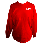 Delta Sigma Theta Spirit Jersey (Red) - Letters Greek Apparel - Black Greek Paraphernalia - Divine Nine Greek Apparel