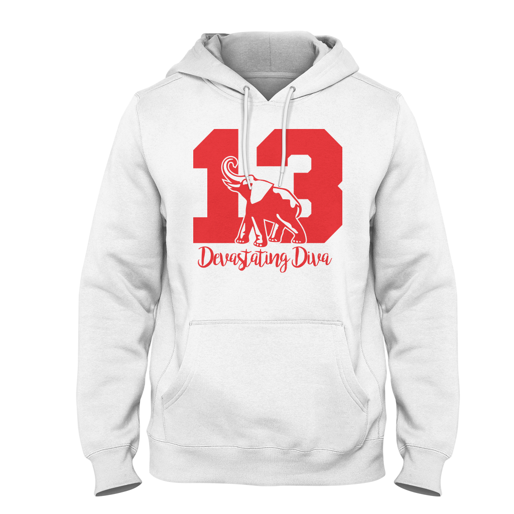 Delta Sigma Theta Founded Hoodie White - Letters Greek Apparel - Black Greek Paraphernalia - Divine Nine Greek Apparel