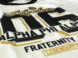Alpha Phi Alpha Legendary Ringer T-Shirt - Letters Greek Apparel - Black Greek Paraphernalia - Divine Nine Greek Apparel - Atlanta Greek Store