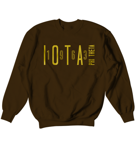 Iota Phi Theta Sport Crewneck Sweat Shirt - Letters Greek Apparel - Black Greek Paraphernalia - Divine Nine Greek Apparel - Atlanta Greek Store