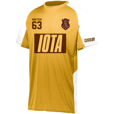 Iota Phi Theta Home Soccer Jersey - Letters Greek Apparel - Black Greek Paraphernalia - Divine Nine Greek Apparel - Atlanta Greek Store