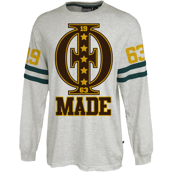 Iota Phi Theta Vintage Stripe Jersey - Letters Greek Apparel - Black Greek Paraphernalia - Divine Nine Greek Apparel