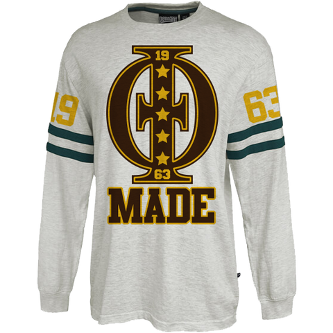 Iota Phi Theta Vintage Stripe Jersey - Letters Greek Apparel - Black Greek Paraphernalia - Divine Nine Greek Apparel - Atlanta Greek Store
