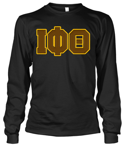 Iota Phi Theta Greek Letter Long Sleeve - Letters Greek Apparel - Black Greek Paraphernalia - Divine Nine Greek Apparel