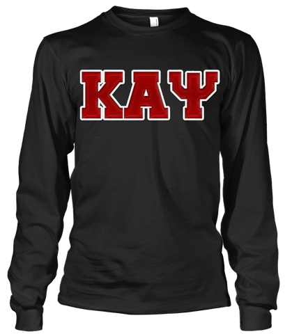 Kappa Alpha Psi Greek Letter Long Sleeve - Letters Greek Apparel-Black Greek Paraphernalia-Divine Nine Apparel