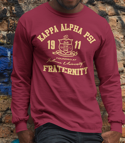 Kappa Alpha Psi Roots Long Sleeve T-Shirt - Letters Greek Apparel - Black Greek Paraphernalia - Divine Nine Greek Apparel - Atlanta Greek Store