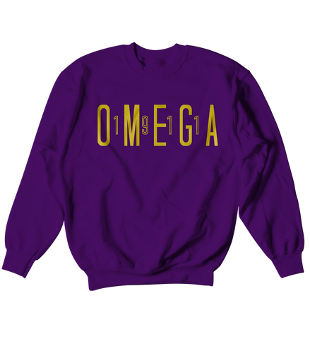 Omega Psi Phi Sport Crewneck - Letters Greek Apparel - Black Greek Paraphernalia - Divine Nine Greek Apparel - Atlanta Greek Store