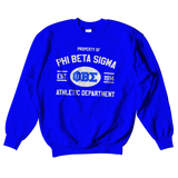 Phi Beta Sigma Athletic Crewneck Sweatshirt - Letters Greek Apparel - Black Greek Paraphernalia - Divine Nine Greek Apparel - Atlanta Greek Store