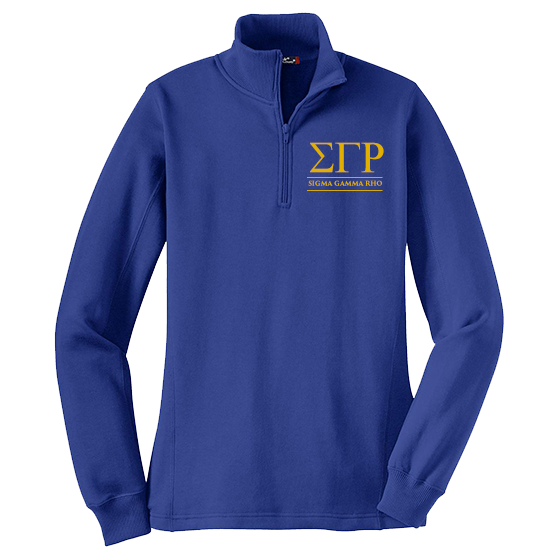 Sigma Gamma Rho Quarter-zip Sweatshirt - Letters Greek Apparel - Black Greek Paraphernalia - Divine Nine Greek Apparel