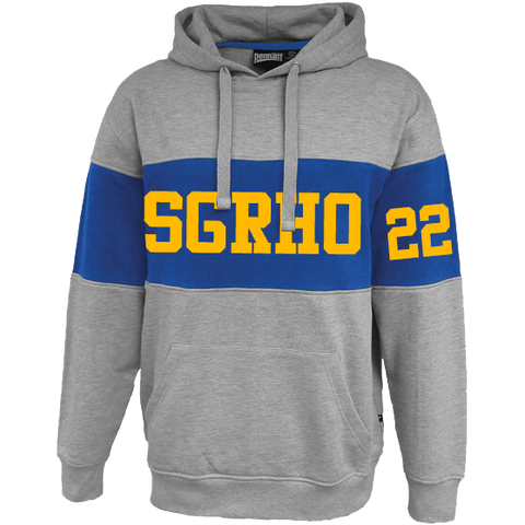 Sigma Gamma Rho Cross Chest Hoodie - Letters Greek Apparel - Black Greek Paraphernalia - Divine Nine Greek Apparel