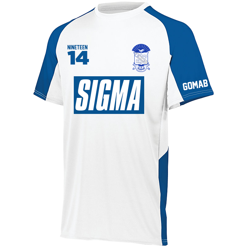 Phi Beta Sigma Home Soccer Jersey - Letters Greek Apparel - Black Greek Paraphernalia - Divine Nine Greek Apparel - Atlanta Greek Store