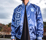 Phi Beta Sigma Satin Baseball Bomber Jacket