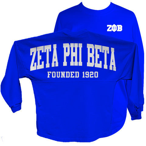 Zeta Phi Beta Spirit Jersey (Blue) - Letters Greek Apparel - Black Greek Paraphernalia - Divine Nine Greek Apparel