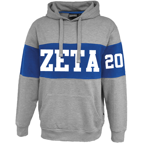 Zeta Phi Beta Cross Chest Hoodie - Letters Greek Apparel-Black Greek Paraphernalia-Divine Nine Apparel