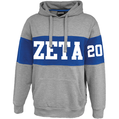 Zeta Phi Beta Cross Chest Hoodie - Letters Greek Apparel - Black Greek Paraphernalia - Divine Nine Greek Apparel