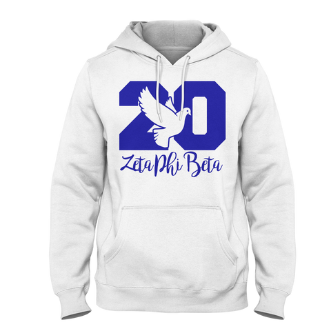 Zeta Phi Beta Founded Hoodie (Blue) - Letters Greek Apparel - Black Greek Paraphernalia - Divine Nine Greek Apparel