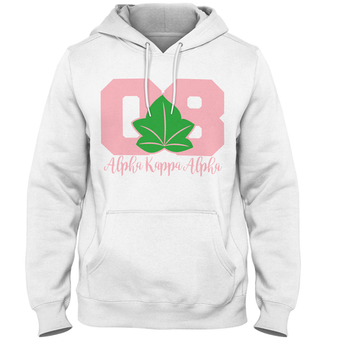 Alpha Kappa Alpha Founded Hoodie - Letters Greek Apparel - Black Greek Paraphernalia - Divine Nine Greek Apparel - Atlanta Greek Store