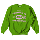 Alpha Kappa Alpha Athletic Crewneck Sweatshirt - Letters Greek Apparel - Black Greek Paraphernalia - Divine Nine Greek Apparel