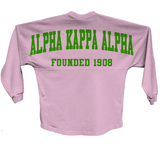 Alpha Kappa Alpha Spirit Jersey (Pink) - Letters Greek Apparel - Black Greek Paraphernalia - Divine Nine Greek Apparel