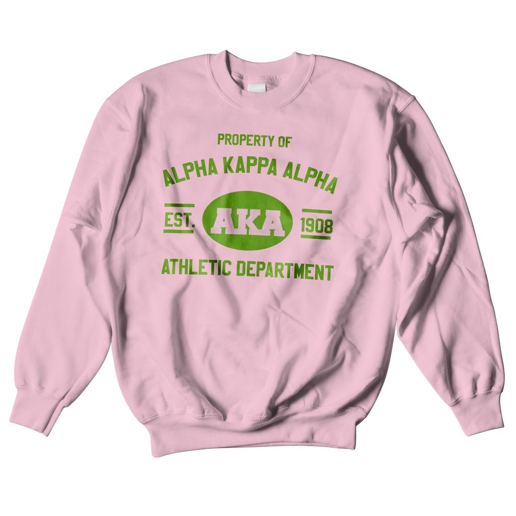 Alpha Kappa Alpha Athletic Crewneck Sweatshirt - Black Greek ...