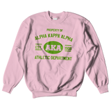 Alpha Kappa Alpha Athletic Crewneck Sweatshirt - Letters Greek Apparel - Black Greek Paraphernalia - Divine Nine Greek Apparel - Atlanta Greek Store
