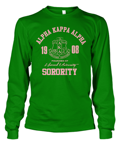 735f0f05fec Alpha Kappa Alpha Roots Long Sleeve T-Shirt - Letters Greek Apparel - Black  Greek