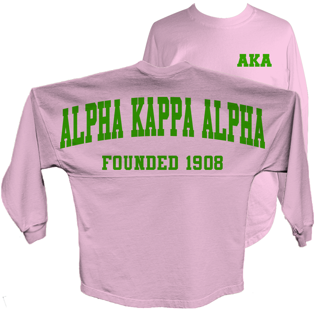 Alpha Kappa Alpha Spirit Jersey (Pink) – Letters Greek Apparel