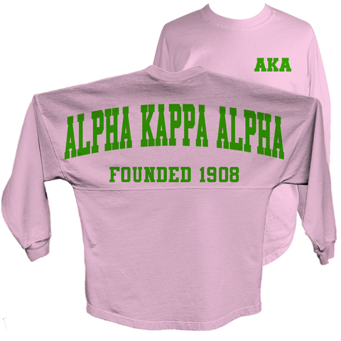 Alpha Kappa Alpha Spirit Jersey (Pink) - Letters Greek Apparel - Black Greek Paraphernalia - Divine Nine Greek Apparel - Atlanta Greek Store