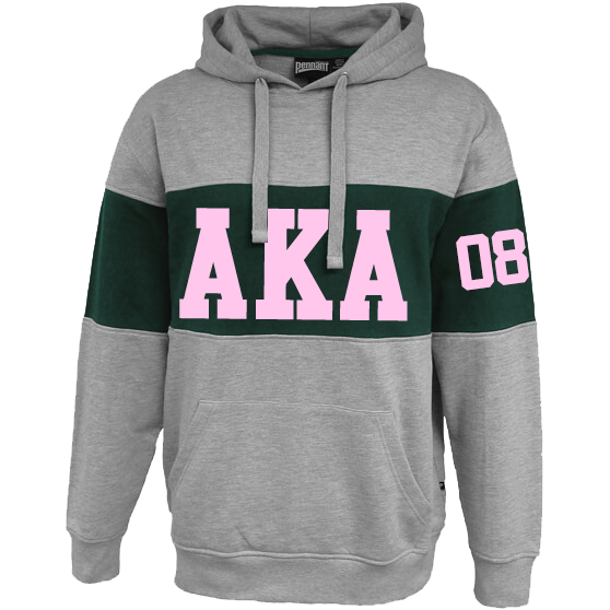 Alpha Kappa Alpha Cross Chest Hoodie - Letters Greek Apparel - Black Greek Paraphernalia - Divine Nine Greek Apparel