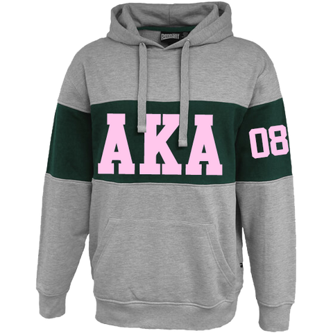 Alpha Kappa Alpha Cross Chest Hoodie - Letters Greek Apparel - Black Greek Paraphernalia - Divine Nine Greek Apparel - Atlanta Greek Store