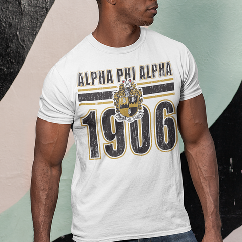 Alpha Phi Alpha Homage T-Shirt - Letters Greek Apparel - Black Greek Paraphernalia - Divine Nine Greek Apparel - Atlanta Greek Store